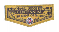 K123420 - LFC MA NU LODGE OA CENTENNIAL FLAP Last Frontier Council #480