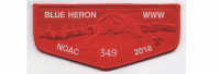 NOAC Flap Red (PO 87355) Tidewater Council #596