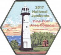 Pine Burr Area Council 2017 National Jamboree Center Patch Pine Burr Area Council #304