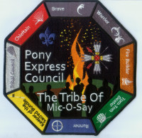 THE TRIBE OF MIC-O-SAY PONY EXPRESS BACK PATCH Pony Express Council #311