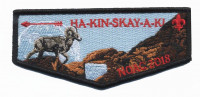 HA-KIN-SKAY-A-KI NOAC 2018 flap Pikes Peak Council #60