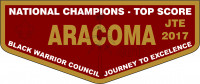 ARACOMA LODGE JTE FLAP Black Warrior Council #6