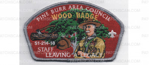 Patch Scan of 2018 Wood Badge CSP STAFF (PO 87513)