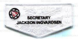 Patch Scan of Caddo Lodge OA Flap Secretary Jackson Ingvardsen