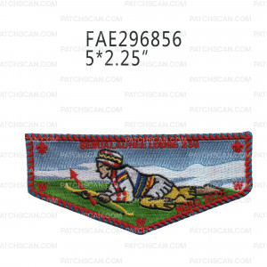 Patch Scan of Semialachee Lodge 239 Flap Indian Crawling