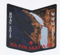 HA-KIN-SKAY-A-KI NOAC 2018 pocket patch Pikes Peak Council #60