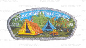 Patch Scan of K123673 - REVOLUTIONARY TRAILS COUNCIL 2015 FOS CSP (SILVER METALLIC)