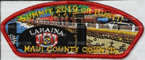 Patch Scan of Maui County Council Summit 2019 or Bust Lahaina 2018