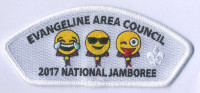 Evangeline Area Council - 2017 National Jamboree - JSP (Happy Tears, Shades, Tongue Out Emoji) Evangeline Area Council #212