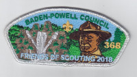 Baden Powell Council Friends of Scouting 2018 Special - Silver Baden-Powell Council #381