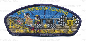 Patch Scan of Pine Burr Area Council - 2019 Friends of Scouting CSP