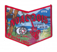 K124008 - Twin Rivers Council - Kittan Lodge NOAC Pocket Piece (Red) Twin Rivers Council #364