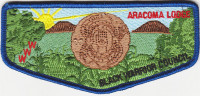 32684 - Aracoma Lodge OA 2014 Lodge Flap Black Warrior Council #6