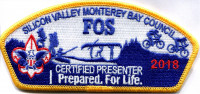 SVMBC FOS 2018 Certified Presenter CSP  Silicon Valley Monterey Bay Council #55