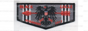 Patch Scan of Normandy Camporee Lodge Flap black border (PO 86762)