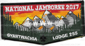 Patch Scan of National Jamboree 2017 Gyantwachia Lodge 255 FLAP