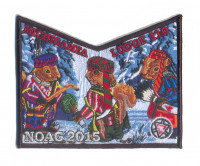 K123926 - Calumet Council - NOAC Patch Michigamea Winter Pocket (Black) Calumet Council #152