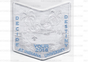 Patch Scan of 2018  NOAC Pocket Patch White Border (PO 87939)