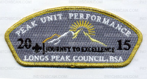 Patch Scan of Longs Peak Unit Performance 2015
