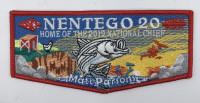 Nentego Lodge 20- Home of the 2019 National Chief Red border Del-Mar-Va Council #81