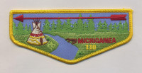 K123600 - CALUMET COUNCIL - 50TH ANNIVERSARY FLAP - OPOSA ACHOMAWI (YELLOW BORDER) Calumet Council #152