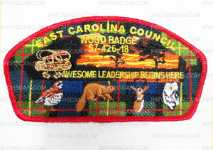 Patch Scan of East Carolina Council Wood Badge S7-426-18 CSP
