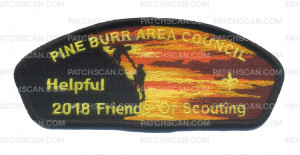 "Patch Scan of 2018 FOS ""Helpful"" Pine Burr Area Council"