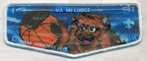 Patch Scan of Ma-Nu Lodge National Jamboree 2017 WWW 133 Flap