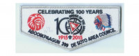 100th Anniversary Flap (84945) De Soto Area Council #13