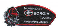 NEGA Council- Home of the Dawgs (Hvy Emb) red border Northeast Georgia Council #101