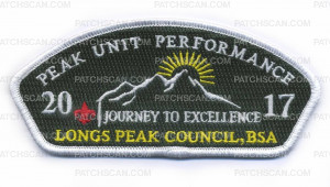 Patch Scan of Peak Unit Performance 2017 Journey to Excellence Longs Peak Council BSA