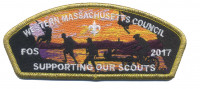 FOS 2017- Supporting our Troops- Gold metallic border Western Massachusetts Council #234