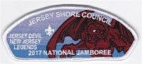 JSC 2017 National Jamboree 6 Piece Set Devil Legends Jersey Shore Council #341