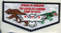 Camp De Soto Flap 2016- black border De Soto Area Council #13
