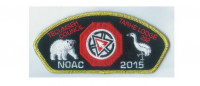 Tarhe NOAC flap gold border  Tecumseh Council #439