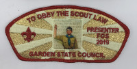 FOS 2019 Obey The Scout Law - special Garden State Council #690