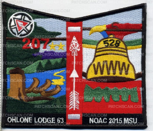Patch Scan of Ohlone Lodge - NOAC 2015 Pocket Patch