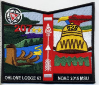Ohlone Lodge - NOAC 2015 Pocket Patch Pacific Skyline Council #31