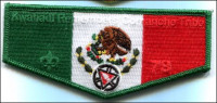 Kwahadi Rememers with Mexico Flag OA Flap  Conquistador Council #413