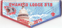 Owaneco Lodge - NOAC 2018 Flap (Red, White and Blue)  Connecticut Yankee Council #72