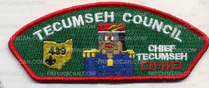 Patch Scan of Chief Tecumseh CSP - Blue