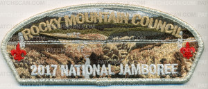 Patch Scan of Rocky Mountain Council CSP - River Valley - Silver Metallic