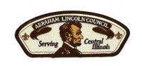 SERVING CENTRAL ILLINOIS LINCOLN WITH BEARD Abraham Lincoln Council #144