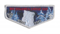 K124312 - Calumet Council - NOAC Patch Michigamea Winter Flap (Silver Metallic) Calumet Council #152