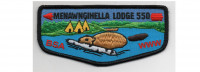 Lodge Flap Black Border (PO 88116r1) Mountaineer Area Council #615