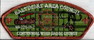 Patch Scan of Baltimore Area Council Centennial N6-220-19-2 Wood Badge Course 2019