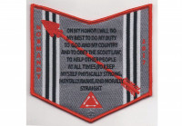 Normandy Camporee Pocket Patch Red (PO 86766) Transatlantic Council #802
