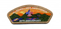 Allegheny Highlands Council 45th Anniversary CSP (Silver Metallic)  Allegheny Highlands Council #382