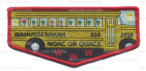 Patch Scan of Wahunsenakah 333 2018 NOAC or Quack Flap #3