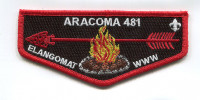 aracoma lodge elangomat flap Black Warrior Council #6